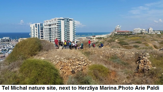 Tel Michal overlooking Herzliya Marina. Photo Arie Paldi