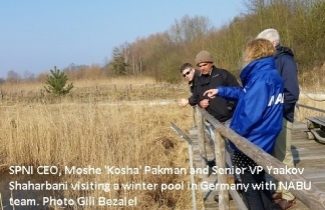 SPNI visit winter pool with NABU, Germany
