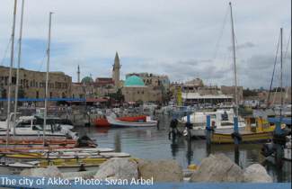The city of Akko.Photo : Sivan Arbel
