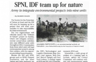 SPNI, IDF Team Up - Read the full article >>