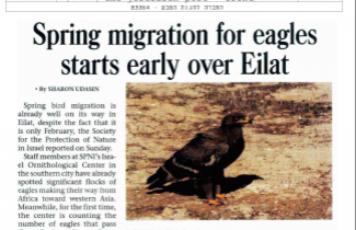 Newspaper Clipping of Bird Spring Migration.
