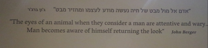 Quote from the Eretz Israel Museum in Tel Aviv