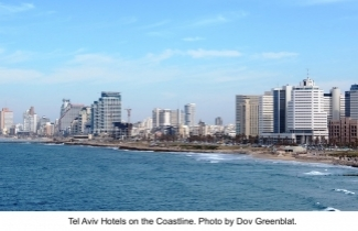 Tel Aviv Hotels on the Coastline. Photo by Dov Greenblat.